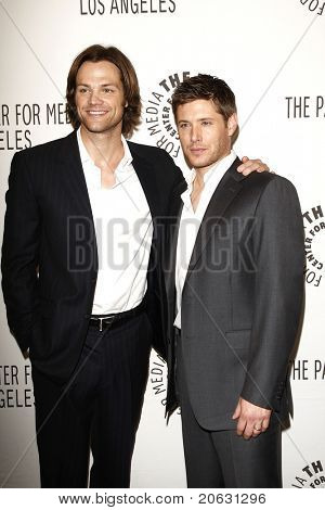 BEVERLY HILLS - MAR 13:  Jared Padalecki, Jensen Ackles arriving at the Paleyfest 2011 event honoring Supernatural in Beverly Hills, CA on March 13, 2011.