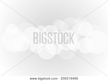Abstract white transparent circle shapes overlap on gray background Vector illustration