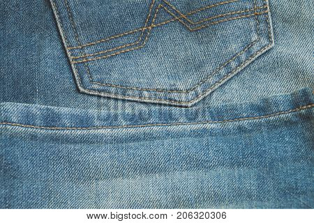 Blue Jeans Texture And Seam Stitch Design