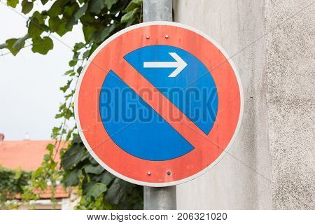 Road sign prohibitory sign - No parking here