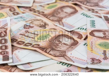 Thailand Bank Note Or  Money For Blackground