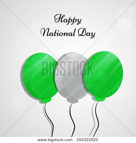 illustration of balloons with Happy National Day text on the occasion of Nigeria National Day