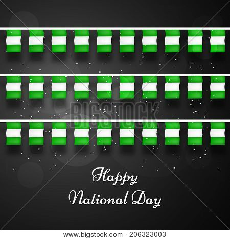 illustration of decoration with Happy National Day text on the occasion of Nigeria National Day