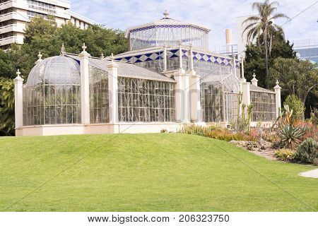 Side View With Succulents, The Palm House, Adelaide Botanic Garden, Sa