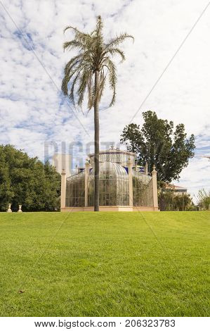Side View, The Palm House, Adelaide Botanic Garden, South Australia