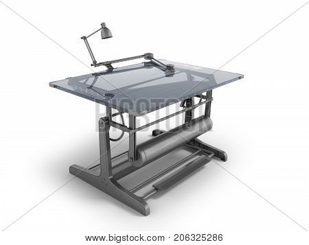 Electronic Drawing Table For Drawing With Regulators 3D Rendering On A White Background