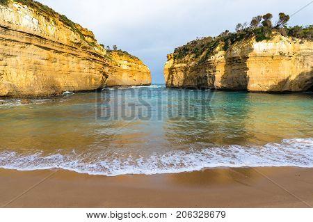Tropical Sand Beach In The Bay