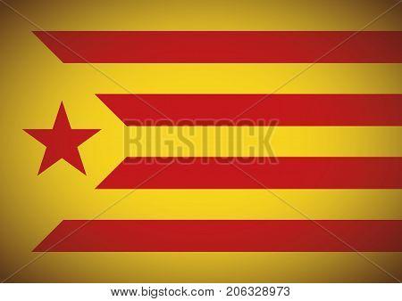 Estelada Vermella Flag Background Catalonia Independentism Referendum