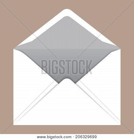 Open c5 envelope mockup. Realistic illustration of open c5 envelope vector mockup for web design