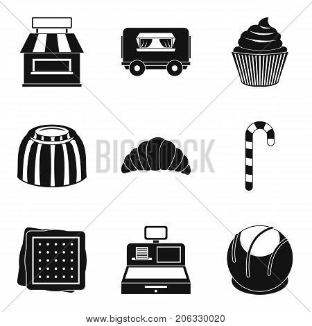 Delicious street food icons set. Simple set of 9 delicious street food vector icons for web isolated on white background