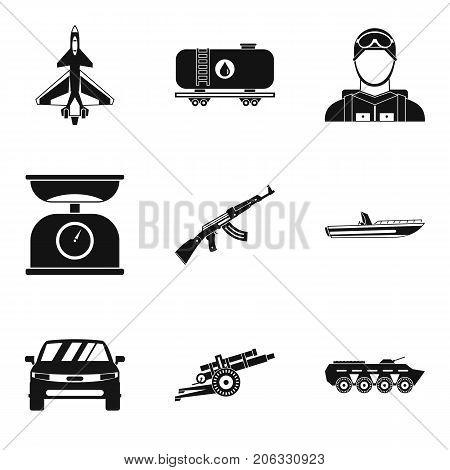 Struggle icons set. Simple set of 9 struggle vector icons for web isolated on white background