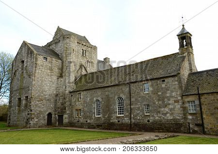 An external view of the medieval Torphichen preceptory