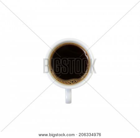 Cup of coffee isolated on white.
