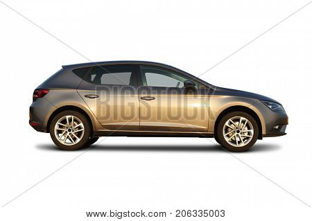 car on white background