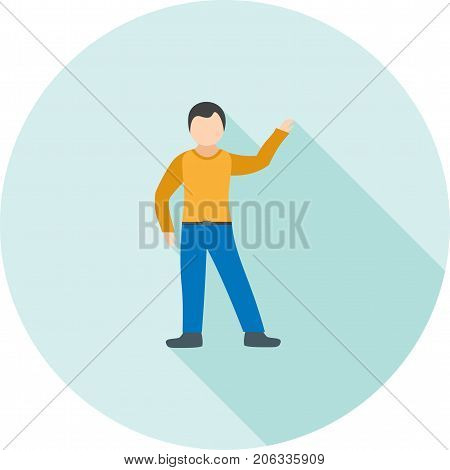 People, success, courageous icon vector image. Can also be used for Personality Traits. Suitable for web apps, mobile apps and print media.