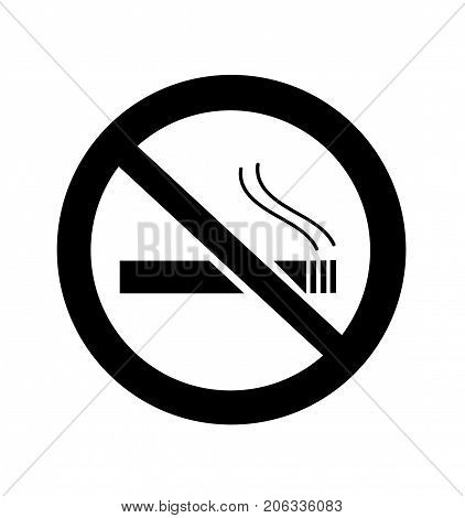 No Smoking Sign illustration on white background
