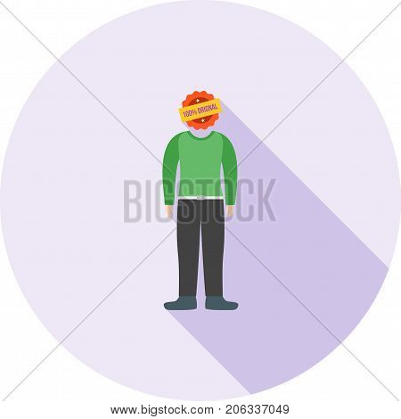 Authentic, genuine, actual icon vector image. Can also be used for Personality Traits. Suitable for web apps, mobile apps and print media.