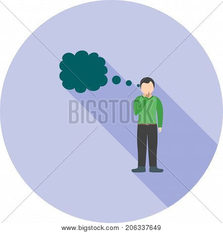 Thinking, brain, thought icon vector image. Can also be used for Personality Traits. Suitable for mobile apps, web apps and print media.