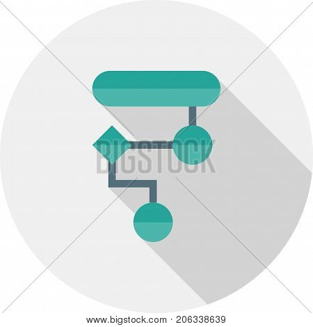 Algorithm, design, diagram icon vector image. Can also be used for Data Analytics. Suitable for use on web apps, mobile apps and print media.