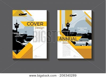 Yellow and Brown abstract cover design modern book cover abstract Brochure cover templateannual report magazine and flyer layout Vector a4