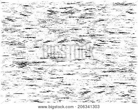 Black and white vector fine texture of the wall or tree bark template. Background with stripes and texture scratches and cracks.  Create Abstract Dotted, Scratched, Vintage Effect With Noise And Grain