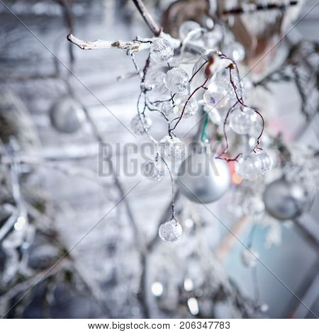 Christmas winter background.