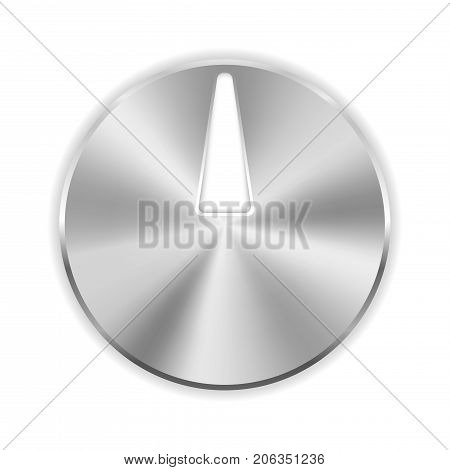 Thumbtack. Iron stationery pin. Vector 3d illustration isolated on white background