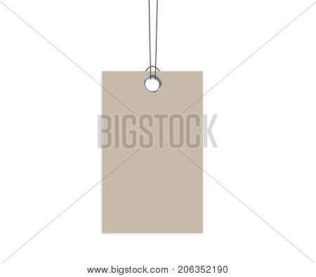 Blank Dangling Paper Vector & Photo (Free Trial) | Bigstock