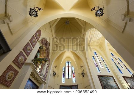 Inside Of The Sanctuary Of Maria Magdalena