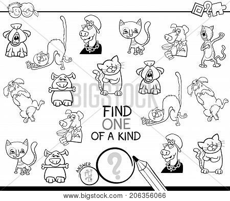 Find One Of A Kind Game Coloring Book
