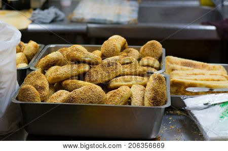 Handmade Chinese deep-fried dough stick close up
