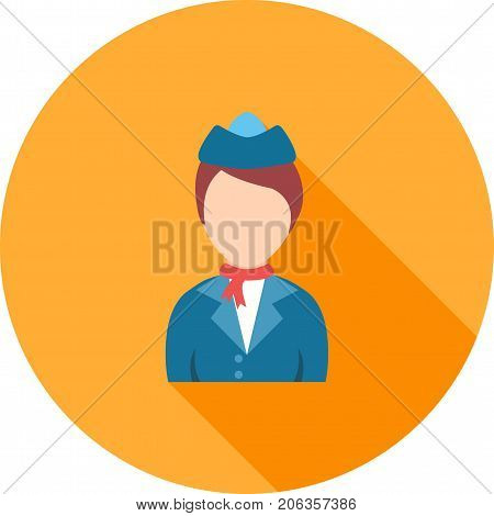 Dress, style, blue icon vector image. Can also be used for Avatars. Suitable for mobile apps, web apps and print media.