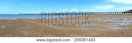 Panorama of Urangan Pier Queensland Australia