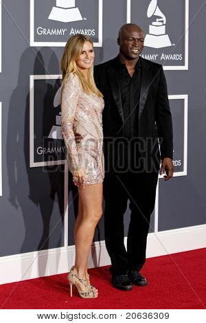 LOS ANGELES - JAN 31:  Heidi Klum and Seal arriving at the 52nd Annual GRAMMY Awards held at Staples Center in Los Angeles, California on January 31, 2010.