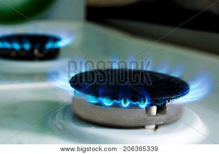 Flame from a gas stove. Flame from a gas stove.