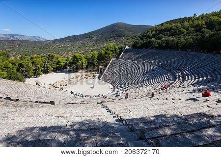 Theatre Of Epidaurus, Peloponnese, Greece