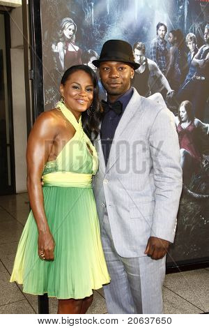 LOS ANGELES - JUNE 8:  Nelsan Ellis and Tiffany Snow arriving at the premiere of 'True Blood' held at the Arclight Theatre in Los Angeles, California on June 08, 2010.