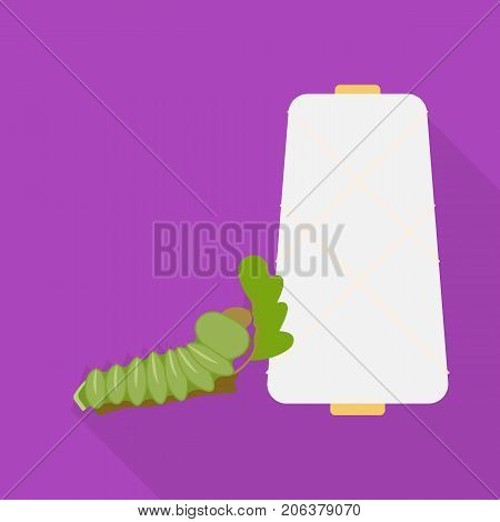 Coil, single icon in flat style.Coil, vector symbol stock illustration .