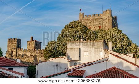 Castle of Braganza and residential houses in downtown