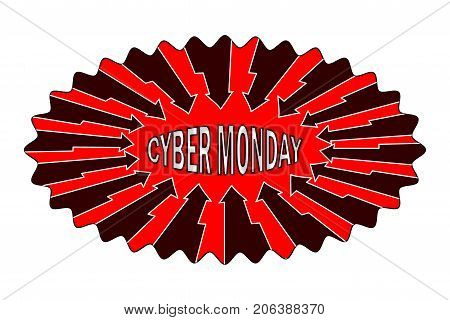 Cyber Monday - sticker , Abstract vector - Cyber Monday - label