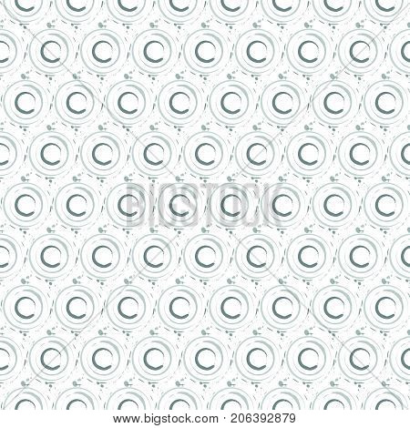 Abstract seamless pattern background made with brushed rings in gray scale