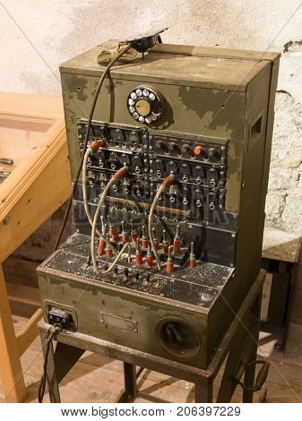 Old Telephone Switchboard Close Up