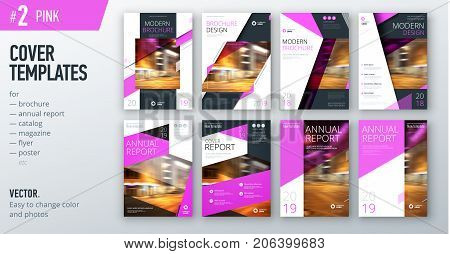 Set of business cover design template in teal color for brochure, report, catalog, magazine or booklet. Creative vector background concept