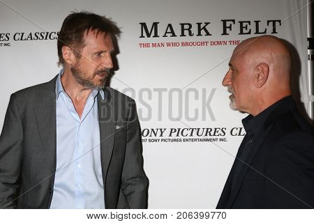 LOS ANGELES - SEP 26:  Liam Neeson, Alan Nierob at the