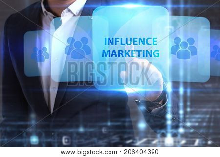 The Concept Of Business, Technology, The Internet And The Network. The Young Entrepreneur Has Found
