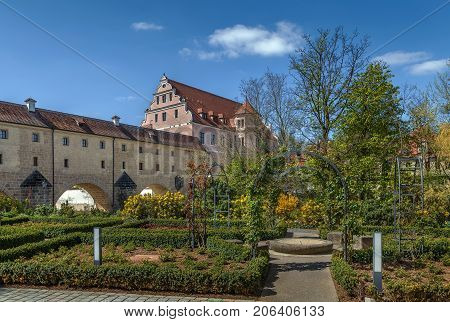 Stadtbrille is a bridge originally a part of the town fortifications Amberg Germany