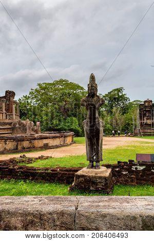 Statue of Bodhisattva at Dalada Maluwa of Polonnaruwa