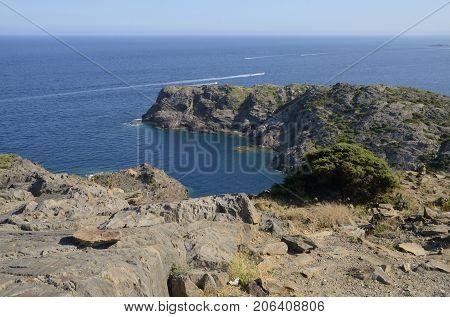 Cove at the Cap de Creus Natural Park in Costa Brava Girona Catalonia Spain.