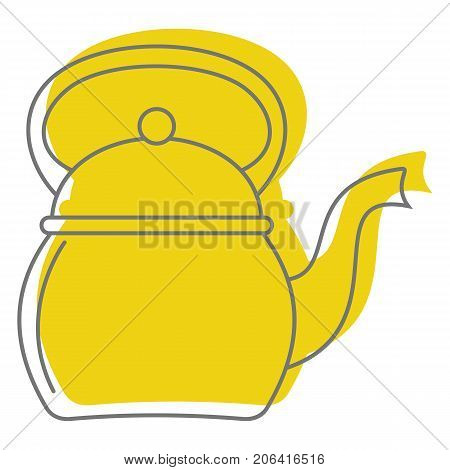 Kettle In Doodle Style Icons Vector Illustration For Design And Web Isolated On White Background