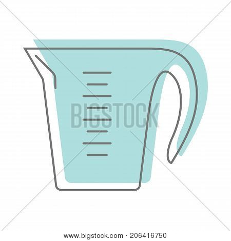 Blue Pan In Doodle Style Icons Vector Illustration For Design And Web Isolated On White